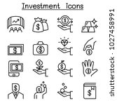 investment icon set in thin... | Shutterstock .eps vector #1027458991