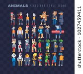 animals characters furry art... | Shutterstock .eps vector #1027459411