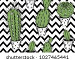 seamless pattern with image of... | Shutterstock .eps vector #1027465441