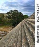 uxmal  mexico   january 30 ... | Shutterstock . vector #1027466239