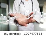good health check. medical... | Shutterstock . vector #1027477585