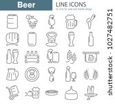 beer line icons set for web and ... | Shutterstock .eps vector #1027482751
