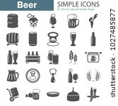 beer simple icons set for web... | Shutterstock .eps vector #1027485877