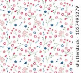 cute seamless floral pattern.... | Shutterstock .eps vector #1027495279