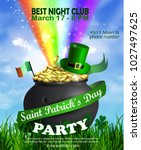 vector st. patrick s day poster ...   Shutterstock .eps vector #1027497625