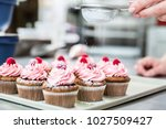 woman in confectionary icing... | Shutterstock . vector #1027509427