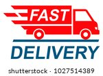 fast shipping delivery truck ... | Shutterstock .eps vector #1027514389