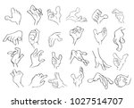 a set of vector cartoon...   Shutterstock .eps vector #1027514707