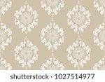 seamless wallpaper pattern.... | Shutterstock .eps vector #1027514977
