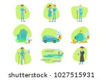 insurance contract protecting... | Shutterstock .eps vector #1027515931