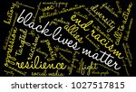 black lives matter word cloud... | Shutterstock .eps vector #1027517815