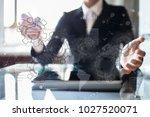 gears  mechanism design on... | Shutterstock . vector #1027520071