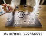 iot and automation concept as... | Shutterstock . vector #1027520089