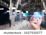 candlestick chart. stock market ... | Shutterstock . vector #1027520377