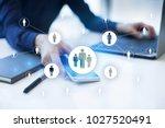 human resource management  hr ... | Shutterstock . vector #1027520491