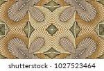 beige abstract symmetric... | Shutterstock . vector #1027523464