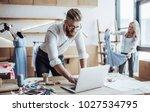 couple of fashion designers are ...   Shutterstock . vector #1027534795