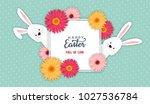 easter banner background... | Shutterstock .eps vector #1027536784
