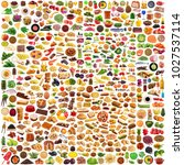 global gastronomy collage on... | Shutterstock . vector #1027537114