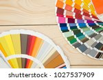a set of tools for painting a... | Shutterstock . vector #1027537909