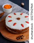 carrot cake with sugar...   Shutterstock . vector #1027542964