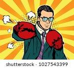 man in boxing gloves vector...   Shutterstock .eps vector #1027543399