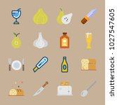 icons gastronomy with bottle ... | Shutterstock .eps vector #1027547605