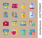 icons banking with chart ... | Shutterstock .eps vector #1027549849