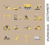 icons construction machinery... | Shutterstock .eps vector #1027549879