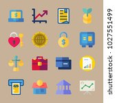 icons banking with heart key ... | Shutterstock .eps vector #1027551499