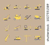icons construction machinery... | Shutterstock .eps vector #1027551589