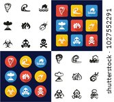 armageddon all in one icons... | Shutterstock .eps vector #1027552291