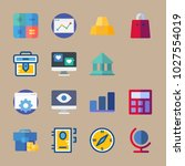 icons business with bar chart ... | Shutterstock .eps vector #1027554019