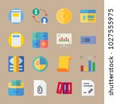 icons banking with currency ... | Shutterstock .eps vector #1027555975