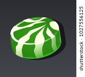 game icon of green candy in...