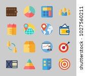 icons about business with list  ... | Shutterstock .eps vector #1027560211