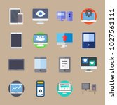 icons computer with social... | Shutterstock .eps vector #1027561111