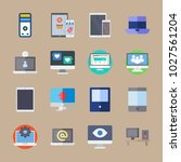 icons computer with tablet ... | Shutterstock .eps vector #1027561204