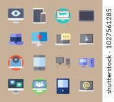 icons computer with phone  eye  ... | Shutterstock .eps vector #1027561285