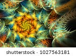 abstract fractal patterns and... | Shutterstock . vector #1027563181
