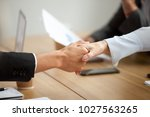 multiracial businessman and... | Shutterstock . vector #1027563265