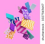 3d colorful decorative... | Shutterstock .eps vector #1027565647