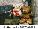 vintage old toys. unneeded ... | Shutterstock . vector #1027567075
