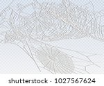 collection of cobweb  isolated... | Shutterstock .eps vector #1027567624