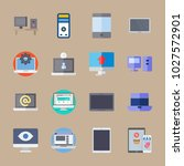 icons computer with medicine ... | Shutterstock .eps vector #1027572901