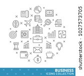 collection of business thin... | Shutterstock .eps vector #1027573705