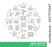 collection of real estate thin...   Shutterstock .eps vector #1027574347