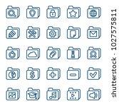 set of folder icons. vector... | Shutterstock .eps vector #1027575811
