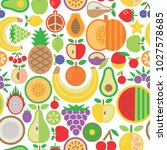 seamless pattern of assorted... | Shutterstock . vector #1027578685