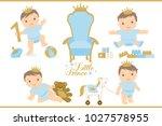 little prince. royal vector...   Shutterstock .eps vector #1027578955